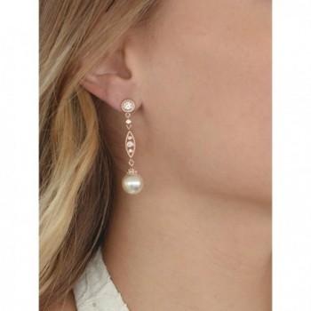 Mariell Vintage Simulated Earrings Filigree in Women's Drop & Dangle Earrings