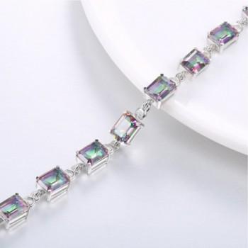 Aurora Tears Mystic Topaz Created gemstone DB2M in Women's Tennis Bracelets