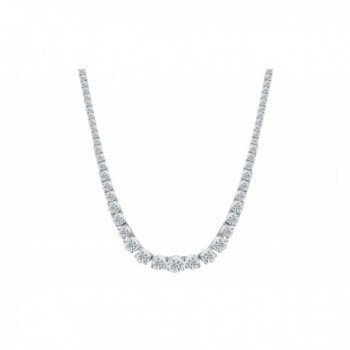 Womens Magnificent Graduated Round Cubic Zirconia Tennis Necklace by NYC Sterling - CC1888UEGX3