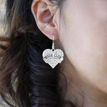 Heart Earrings French Crystal Rhinestones in Women's Drop & Dangle Earrings