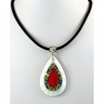 Handmade Mother Abalone necklace CA423 in Women's Chain Necklaces