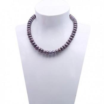 "JYX 9-10mm Black Genuine Freshwater Pearl Necklace 18"" - C512MZ2165O"