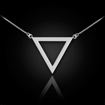 Sterling Geometric Inverted Triangle Necklace