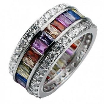 HERMOSA Wedding Valentine's Day Rings Gifts Morganite Topaz Garnet Amethyst Ruby Aquamarine Silver Ring - CW12J2S4XSR