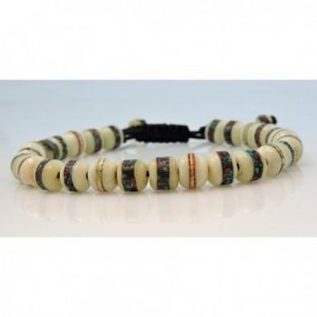 Tibetan Embedded Medicine Meditation Handmade in Women's Strand Bracelets
