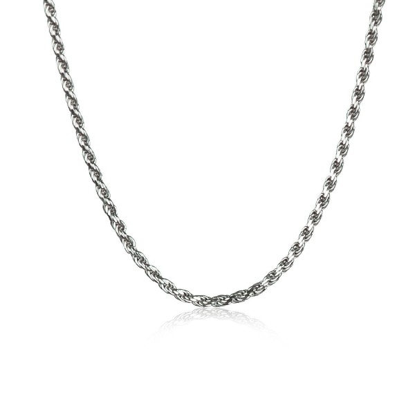 Jane Stone Sterling Silver Necklace Fashion Chain Necklace Bridal Jewelry for Women Girls - CU186EWUKEZ