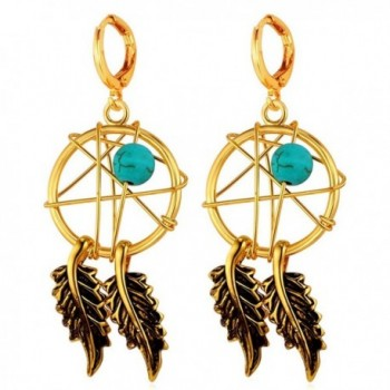 U7 Earrings Turquoise Decorate Catcher - C412HJYE93F