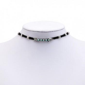 Sujarfla Gothic Choker Necklace Turquoise