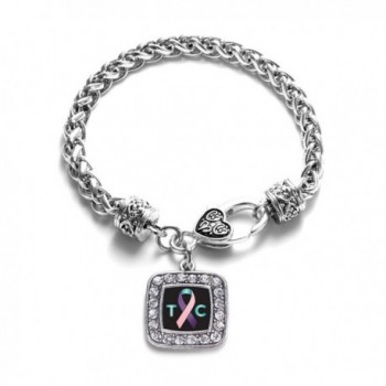Thyroid Awareness Classic Silver Bracelet