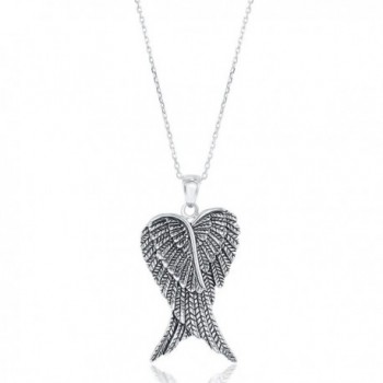 Sterling Silver Double Angel Pendant in Women's Pendants