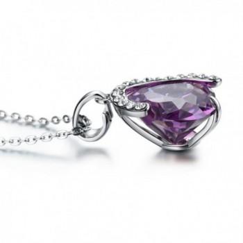 Purple Heart Necklace Gifts Girlfriend