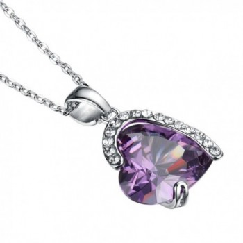 Purple Heart Necklace Gifts Girlfriend in Women's Pendants