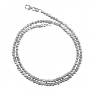 3mm Loose-ball Chain .925 Italian Sterling Silver Necklace. 16-18-20-22 Inches - CP128O4ML9N
