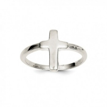 ICE CARATS 925 Sterling Silver Solid Cross Religious Band Ring Fine Jewelry Gift Set For Women Heart - C8118ZVRZ0V
