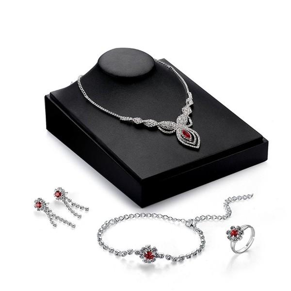 Women's Charm Jewelry Set Necklace and Earrings Set Valentine's Day Gifts - 6 - CI182ORGITT