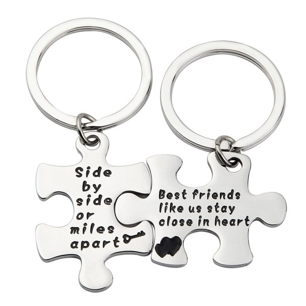 MAOFAED Couples Keychain Jewelry Necklace - side by side Key Chain - C3186YRGYHG