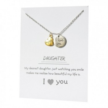 Daughter Jewelry Pendant Card Necklace