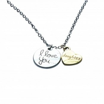 Daughter I Love You To The Moon Jewelry Pendant Gift Card Heart
