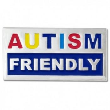 """PinMart's Autism Awareness Friendly Autism 1"""" Enamel Lapel Pin - C211KJ0G8OF"""