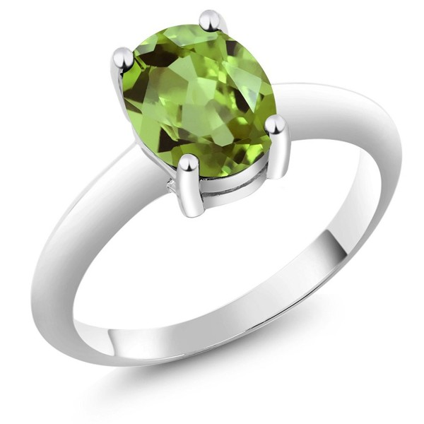 Sterling Solitaire Gemstone Birthstone Available - CI115VHPJA9
