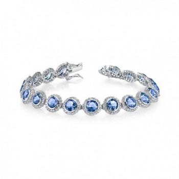 Sterling Silver Zirconia Bracelet Tanzanite