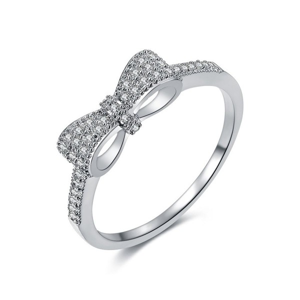 DIFINES Fashion Eternity Engagement Promise - platinum-plated - CO12BB3V4XN