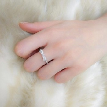 DIFINES Fashion Eternity Engagement Promise in Women's Band Rings