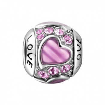 """SOUFEEL """"Pink Love"""" Charm Heart Shaped Swarovski 925 Sterling Silver Charms For Bracelets and Necklaces - CT12GBA1KRF"""