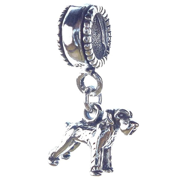 Schnauzer Smaller Sterling Silver Dangle Dog Charms - CY113PGU3N7