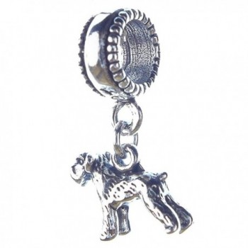 Schnauzer Smaller Sterling Silver Dangle