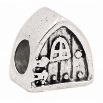 Cottage House Triangle Hobbit Door Fairytale Charm fits European Bracelets - CA12IJKAPL7