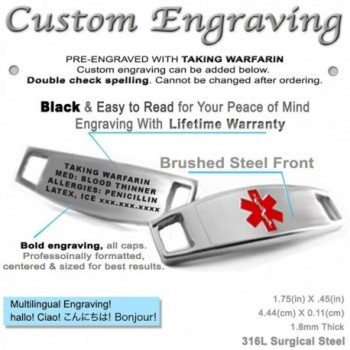 MyIDDr Pre Engraved Customizable Warfarin Link