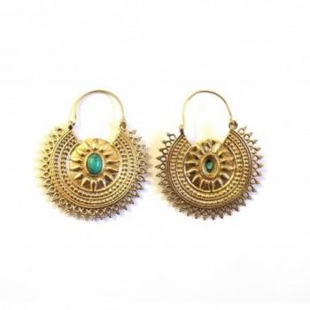 Earrings Fashion Jewelry Tribal Turquoise in Women's Hoop Earrings