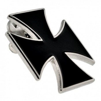 PinMarts Black Cross Biker Enamel