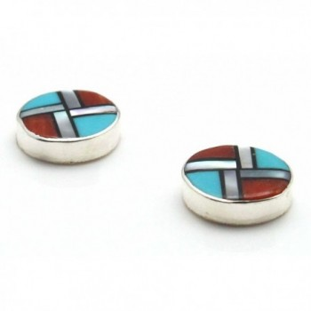 Zuni Multi Stone Inlay Earrings Cheama