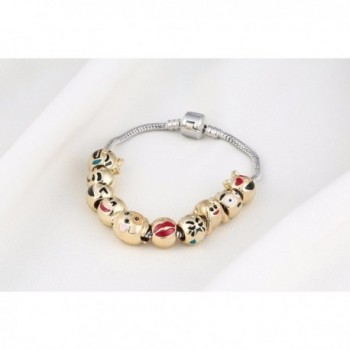 Faces Emoticon Charms Bracelet Interchangeable in Women's Strand Bracelets