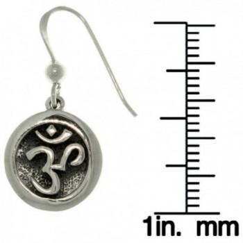 Hindu Symbol Sterling Silver Earrings in Women's Drop & Dangle Earrings