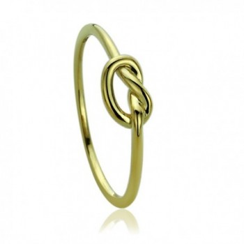 14K Yellow Gold Wedding Ring Plain Gold Celtic Love Knot Promise Ring - CQ120BVCWZ5