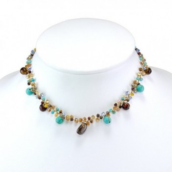 Stone Crystal Cluster Necklace inches in Women's Strand Necklaces