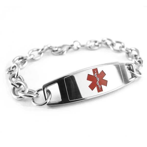 MyIDDr - Pre-Engraved & Customizable Gastric Bypass Medical Bracelet- Medic ID Card Incld - C911CKESHNN