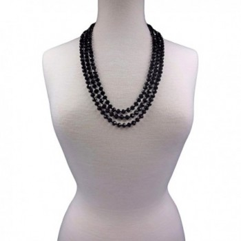 BjB 80 inch Beaded Statement Necklace in Women's Strand Necklaces