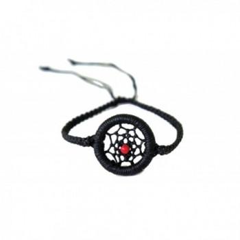 Exoticdream Black Dream Catcher Macrame Bracelet Hemp Handmade Hippie Hobo - CU1264FD6I9