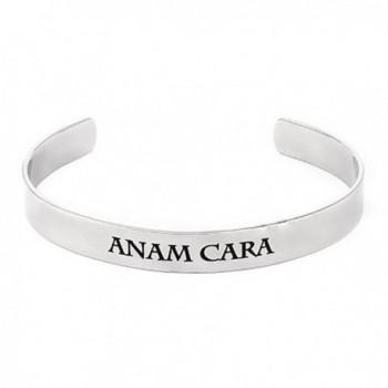 Stainless Steel Anam Cara Soul Friend Poesy Friendship Bracelet- Women's - CV11FMK999X