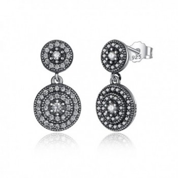BAMOER 925 Sterling Silver Elegance Drop Stud Earrings - CE12INF9W1X