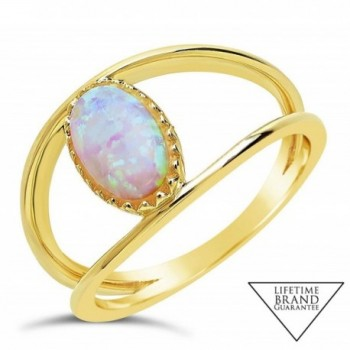 Sterling Forever Vermeil Created Gemstone
