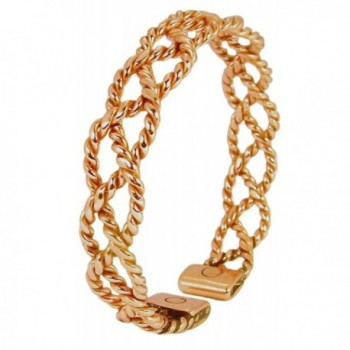 Womens Solid Copper Magnetic Bracelet Chloe with Gift Box - CZ11QJVI8HN