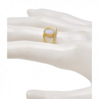 Sterling Forever Vermeil Created Gemstone in Women's Band Rings