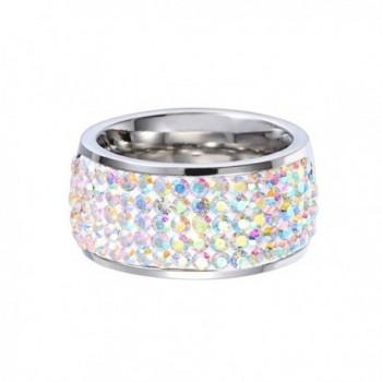 MASOP Fashion Rings Zirconia Silver