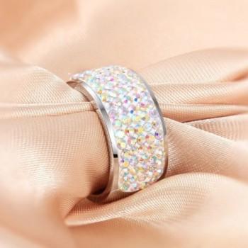 MASOP Fashion Rings Zirconia Silver in Women's Band Rings