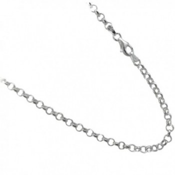 4mm Rolo Chain .925 Italian Sterling Silver Necklace. 16-18-20-22-24-30 Inches Available - C311XMJRHAN